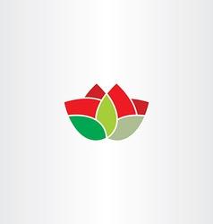 Flower symbol icon element vector
