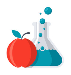 Food chemistry concept vector