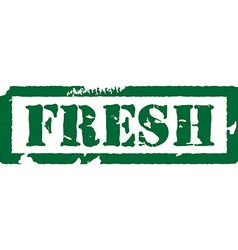Fresh stamp vector image vector image