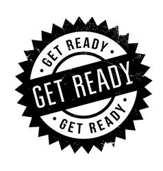 get ready rubber stamp vector image