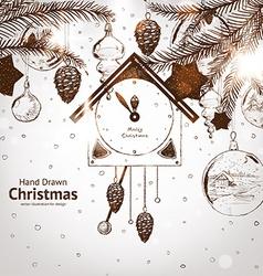 Hand drawn christmas vector