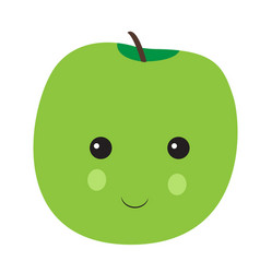 isolated happy apple vector image