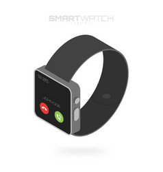 Isometric smart watches isolated on white vector