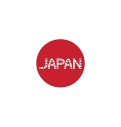 Japanese flag and word japan vector