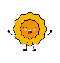Kawaii sun icon vector