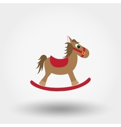 Rocking horse toy flat icon vector