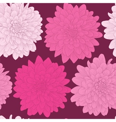 Seamless background with pink flowers vector