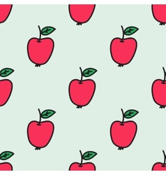 Seamless pattern with apple Hand-drawn background vector image