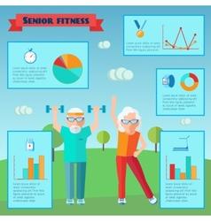 Senior Sport Infographics vector image vector image