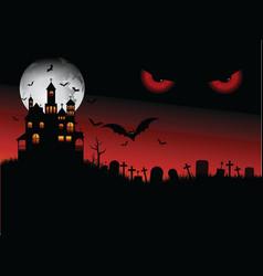 spooky Halloween scene vector image