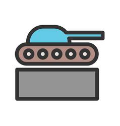 Tank exhibit vector