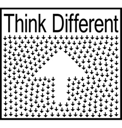Think different business concept vector