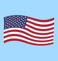 usa flag flying vector image