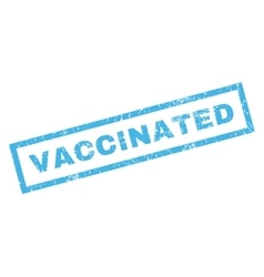 Vaccinated rubber stamp vector