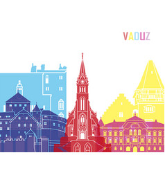 Vaduz skyline pop vector