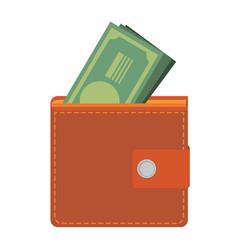 wallet icon flat design vector image vector image