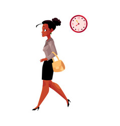 young black african american businesswoman vector image vector image