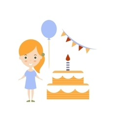 Birthday party as personal happiness idea vector