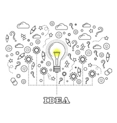 Idea concept with light bulb vector