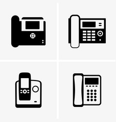 Ip phones vector