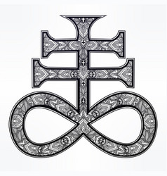 The satanic cross the seal of demon leviathan vector