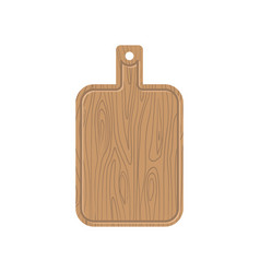 cutting board wooden kitchen plank kitchen vector image