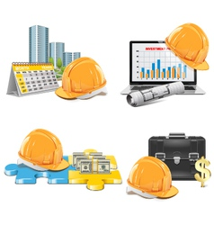 Construction investment concept vector
