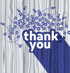 Thank you card design template vector