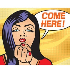 Come here vector image