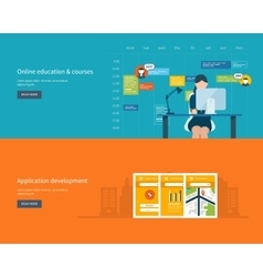 Modern flat design application development concept vector