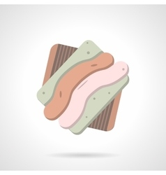 Tasty cookie flat color icon vector