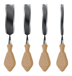 Chisel isolated on white background construction vector
