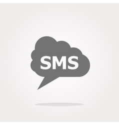 Sms glossy web icon isolated on white vector