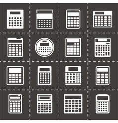 Calculator icon set vector