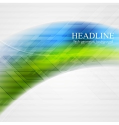 Bright abstract wavy tech background vector