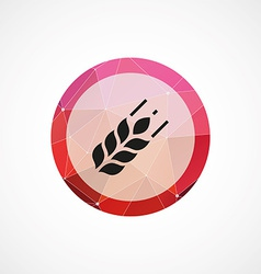 Agriculture circle pink triangle background icon vector image vector image