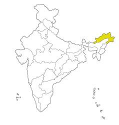 Arunachal pradesh vector