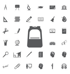 backpack icon vector image vector image