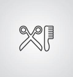 barbershop outline symbol dark on white background vector image
