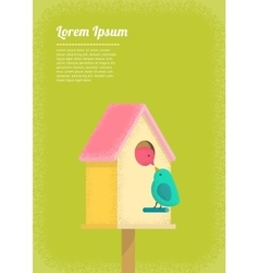 birds and birdhouse vector image vector image