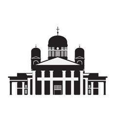 building of finland country travel icon landmark vector image vector image