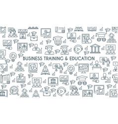 Business training banner vector