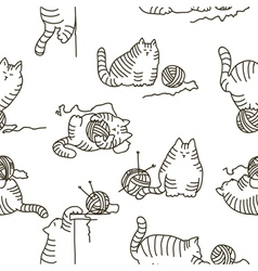 Cats seamless texture vector