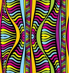 Color abstract african lines vector