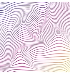 Colorful abstract wavy background with stripes vector image vector image