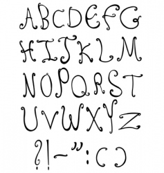 Decorative letters vector