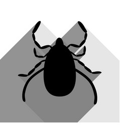 Dust mite sign black icon vector