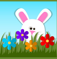 easter bunny or rabbit vector image