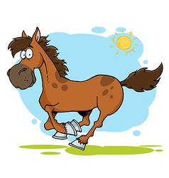 Galloping Cartoon Horse vector image vector image