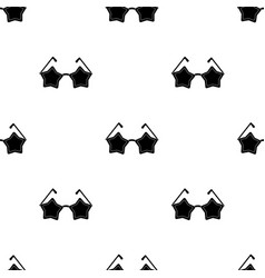 Glasses with starsfans single icon in black style vector